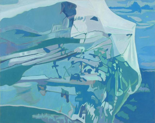 , 'Blue Net,' 1990, Walter Wickiser Gallery