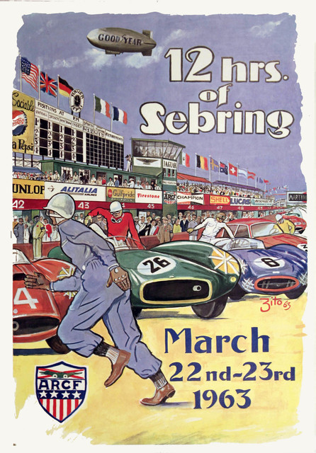 , '12 Hours of Sebring - March 1963,' 1963, Omnibus Gallery