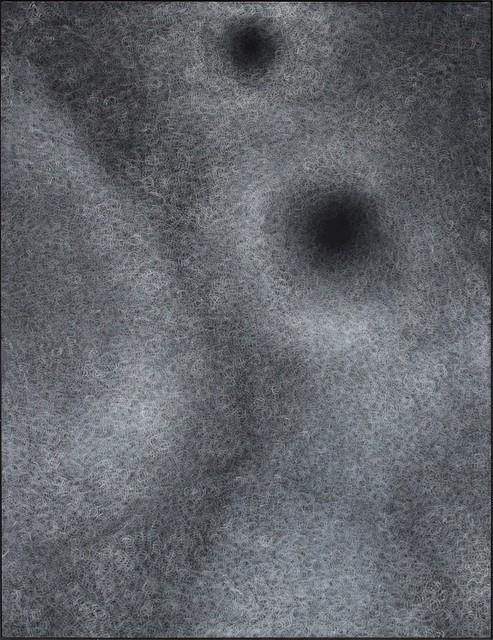 Sang-sun Bae, 'Echo holes ii(1)', 2019, Painting, Gesso on velvet, Gallery LEE & BAE