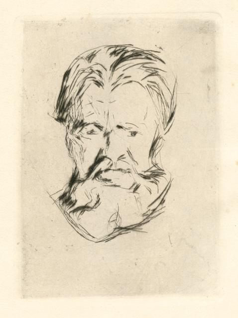 Edvard Munch, 'Portrait Study (Head of a Man)', 1917, Artsnap