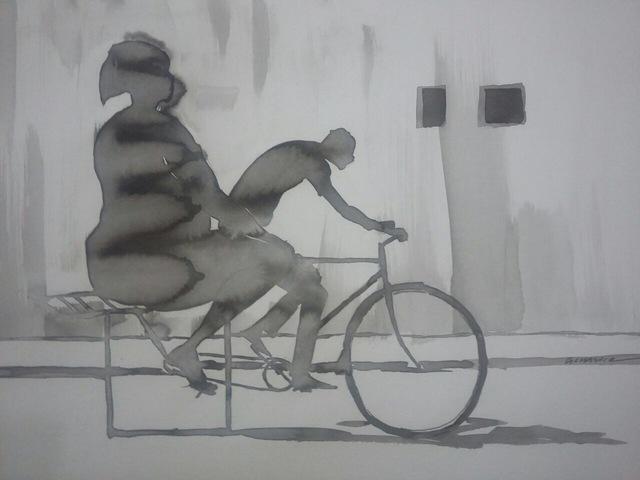 """, '""""Roda quadrada"""",' 2017, Arte de Gema"""