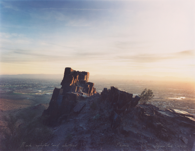 Mark Klett, 'Rock Uplifted and Shattered, Phoenix, Squaw Peak 12/18/83', 1983, San Francisco Museum of Modern Art (SFMOMA)