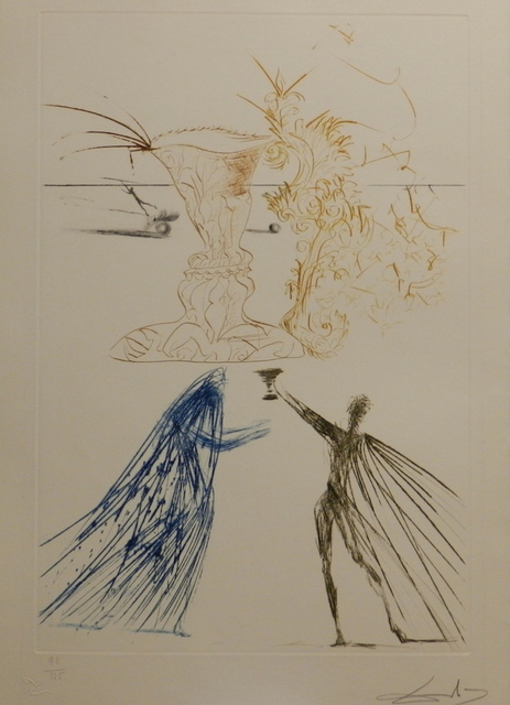 Salvador Dalí, 'Tristan et Iseult Frontispiece (Tristan & Iseult)', 1970, Print, Etching, Fine Art Acquisitions Dali