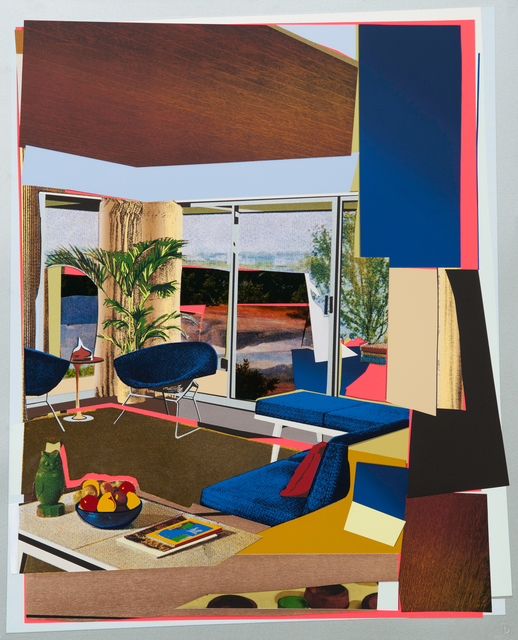Mickalene Thomas, 'Interior: Blue Couch and Green Owl', 2016, Galerie Sabine Knust | Knust Kunz Gallery Editions