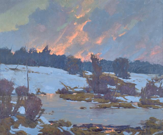 John Phillip Osborne, 'Frozen Pond', Painting, Oil on canvas (framed), Rago/Wright