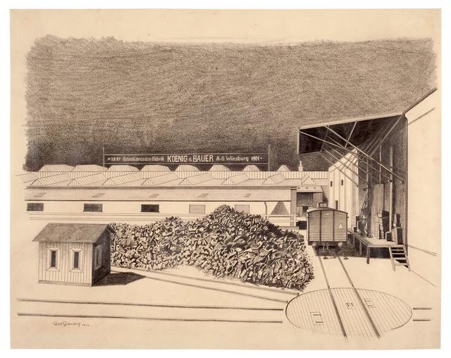 , 'Montagehalle mit Schrotthaufen (König & Bauer, Würzburg),' 1924, Galerie Michael Hasenclever KG