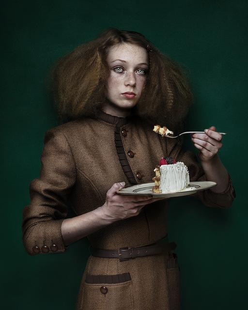 , 'Girl with Cake,' 2017, ArtHelix Gallery