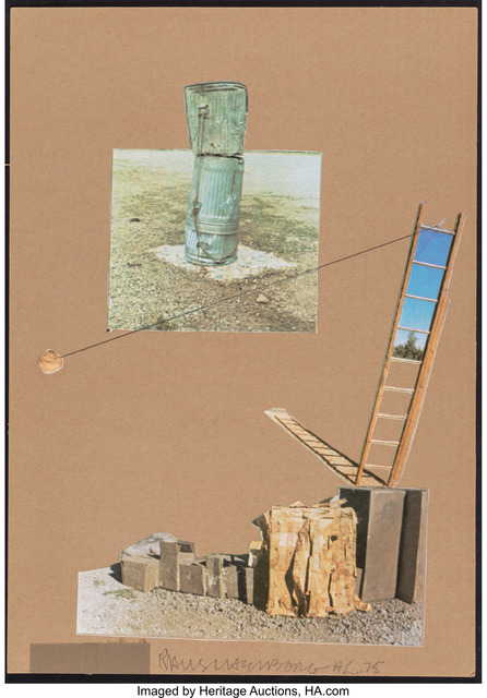 Robert Rauschenberg, 'Composition, from the many Ray Portfolio', 1975, Print, Offset lithograph and screenprint collage in colors on cardboard, Heritage Auctions