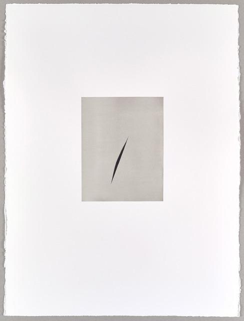, 'Payne's Grey Split (III),' 2016, Parafin