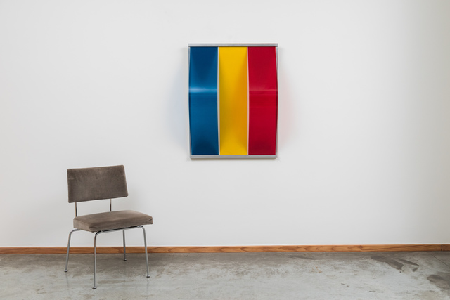 Bob Bonies, '1966 Bob Bonies Spatial composition oil on hardboard with vertical bows', 1966, Galerie Alain Hens