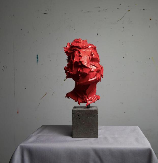 Salman Khoshroo, 'Sculpture in Red Oil Paint', 2020, Painting, Oil, Concrete, Steel, GALERIE BENJAMIN ECK