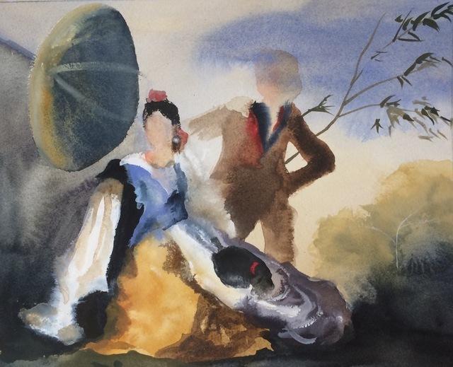 , 'Study II for Green Parasol, after Goya,' 2015, Cynthia Corbett Gallery