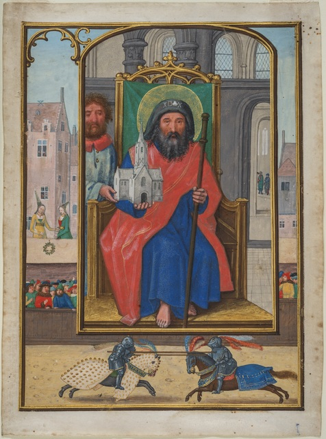, 'Leaf from a Book of Hours: Saint Sebald of Nuremberg,' about 1515-1525 , Montreal Museum of Fine Arts