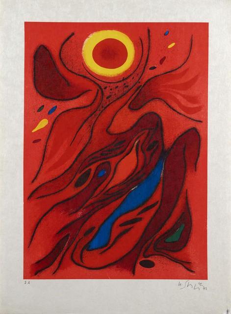 Gustave Singier, ' Le Soleil Rouge', 1971, Le Coin des Arts