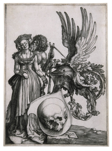 , 'Coat of Arms with a Skull,' 1503, David Tunick, Inc.