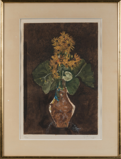 Georges Braque, 'Les marguerites (The Daisies)', 1952, Print, Color etching & aquatint on BFK Rives paper, Samhart Gallery