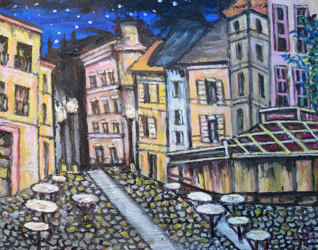 , 'Starry Night Café Scene,' 2016, Fountain House Gallery
