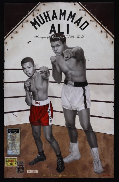 , 'Ali and Young Cassius Clay,' 2019, RJD Gallery