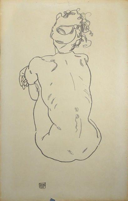 , 'Weiblicher Rückenakt,' 1920, Wallector