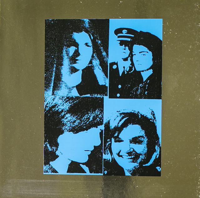 Andy Warhol, 'Jacqueline Kennedy by Andy Warhol on Blue Metallic Paper', 1988, White Cross