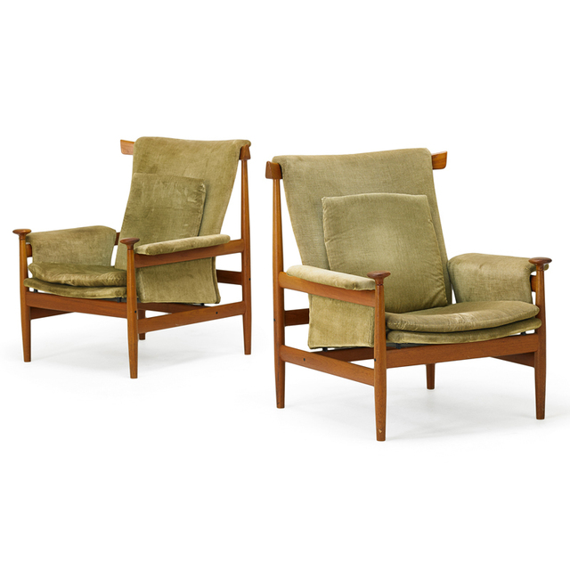 Finn Juhl, 'Pair Of Bwana Chairs, Denmark', 1960s, Rago/Wright