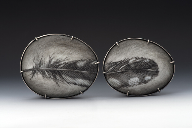 , 'Speckled Feather 1 & 2,' 2017, Facèré Jewelry Art Gallery