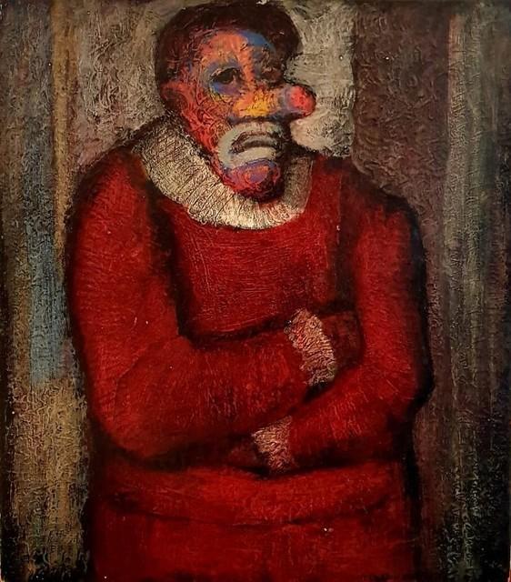 Rafael Coronel, 'Payaso', 1954, Painting, Mixed on masonite, Aguafuerte Galería