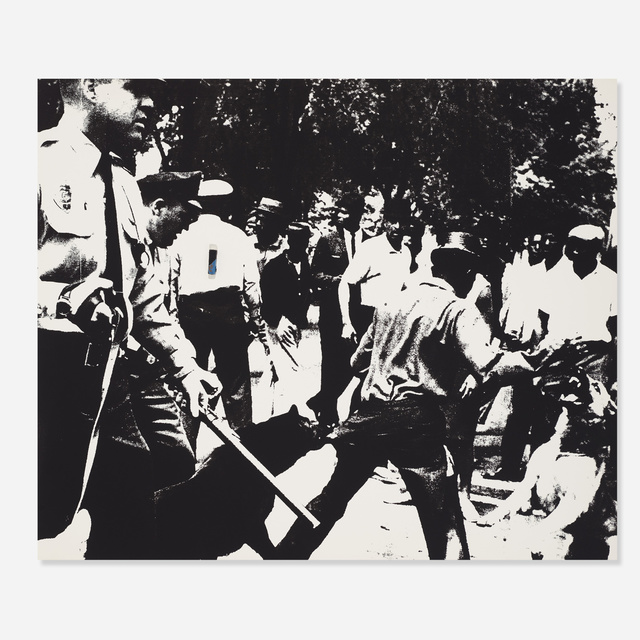 Andy Warhol, 'Birmingham Race Riot from the X + X (Ten Works by Ten Painters) portfolio', 1964, Wright