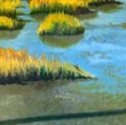 Ellen Sinel, 'Tidal Marshes II', 2016, Painting, Oil on wood, Zenith Gallery