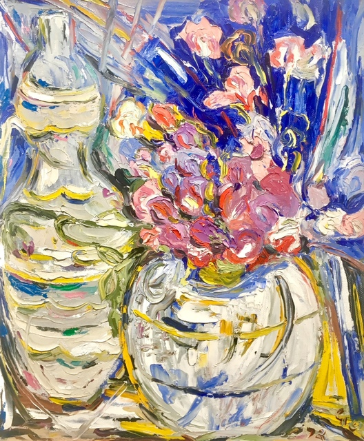 , 'Sweet peas in a white pot,' ca. 1950, Absolut Art Gallery