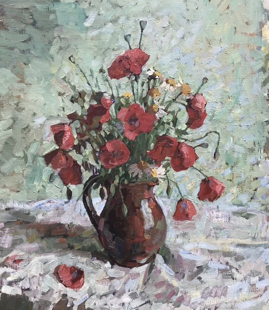 , 'Poppies, Green,' 2019, Grenning Gallery