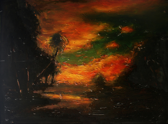, 'Landscape at Sunset, after William Keith,' 1993, Galerie de Bellefeuille