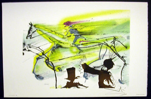 Salvador Dalí, 'Le Cheval De Course', 1983, Print, Lithograph on vélin d'Arches paper, Samhart Gallery