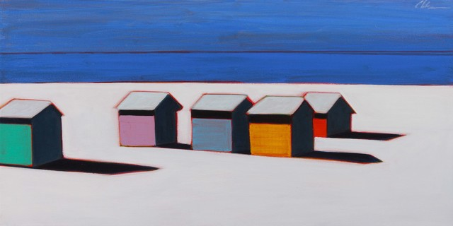 , 'White Beach With 5 Beach Cottages,' 2017, Caldwell Snyder Gallery