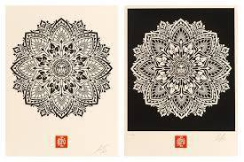 Shepard Fairey, 'Mandula Ornament 1 & 2', 2010, Print, Screen Print on Archival Paper, End to End Gallery