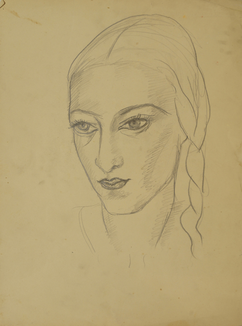 Marie Vorobieff Marevna, 'Head of Marika (recto), and Woman in a blouse, head and shoulders (verso)', Roseberys