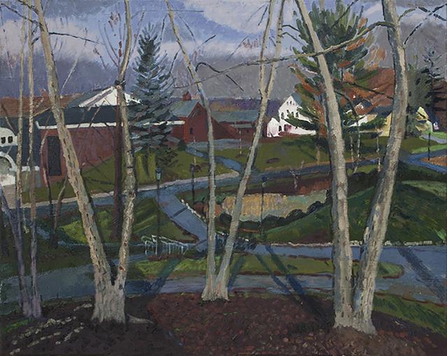 , 'Garden Street Through Trees,' 2015, Bowery Gallery