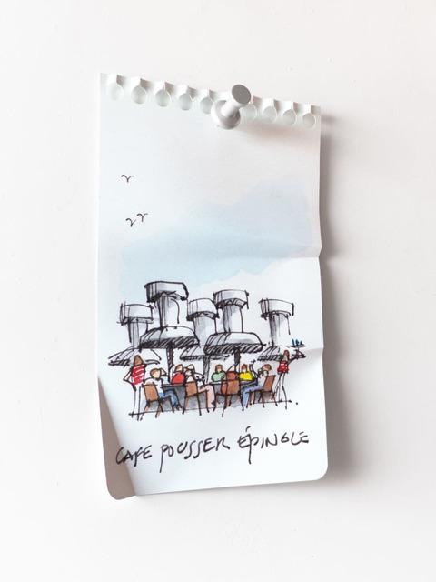 Miles Jaffe, 'Café Pousse Épingle', 2020, Sculpture, Metal, polymer, pigment, S16 Gallery