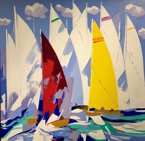 , 'Couleurs de Voiles ,' , Copley Society of Art
