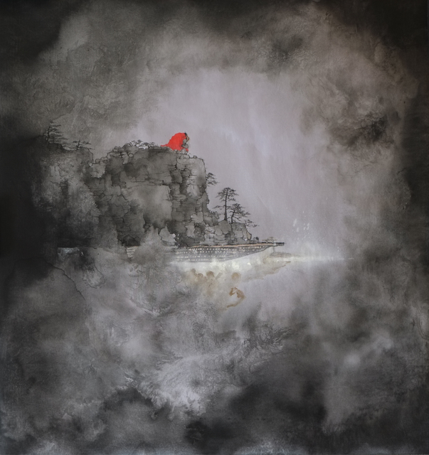 Zhenhua He, 'River Crossing Plan 2015 No. 19', 2015, Painting, Ink on silk, Huafu Art Space