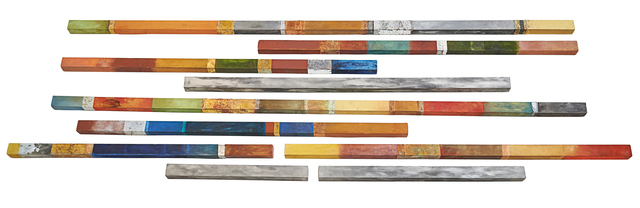 """Martha Jackson Jarvis, '""""Divining Rods""""', 1997, Sculpture, Nine wood, pigment and metal leafing wall mounted sculptures, Rago/Wright"""