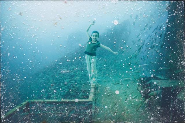 Andreas Franke, 'Balancing Bob (The Sinking World–Vandenberg Project)', 2011, Mixed Media, Photographic print mounted on dibond behind acrylic with ocean patina, Rosenbaum Contemporary