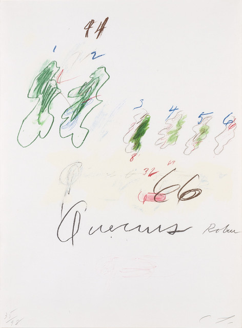 Cy Twombly, 'Quercus Robur (B. 54)', 1975-76, Doyle