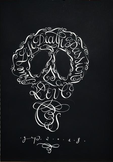, 'Skull,' 2018, Galleria Quadrifoglio