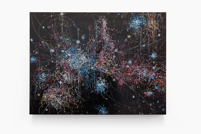 , 'blow up 285 - the long goodbye - subatomic decay patterns and cold dark molecular clouds in the Horsehead Nebula,' 2015, Von Lintel Gallery