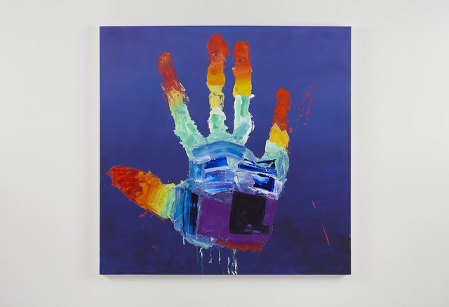 , 'Rainbow super power hand,' 2017, PRAZ-DELAVALLADE