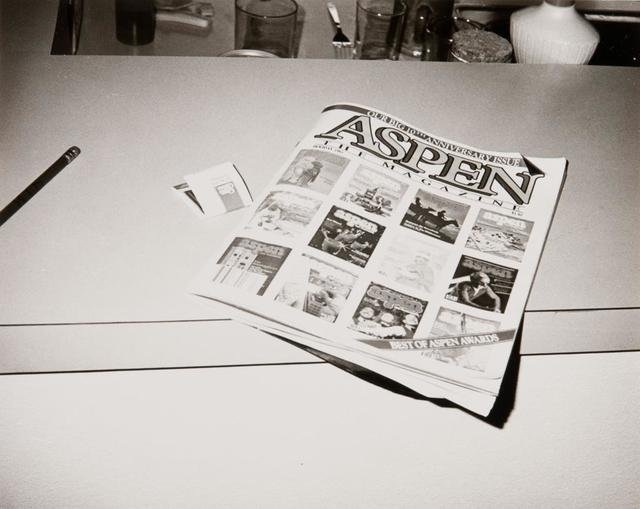 Andy Warhol, 'Andy Warhol, Photograph of Aspen Magazine, 1984', 1984, Photography, Silver Gelatin Print, Hedges Projects