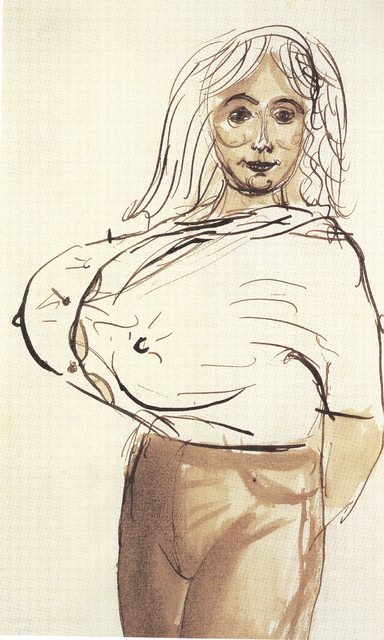 John Currin, 'Big breasted woman', 1988, Phillips