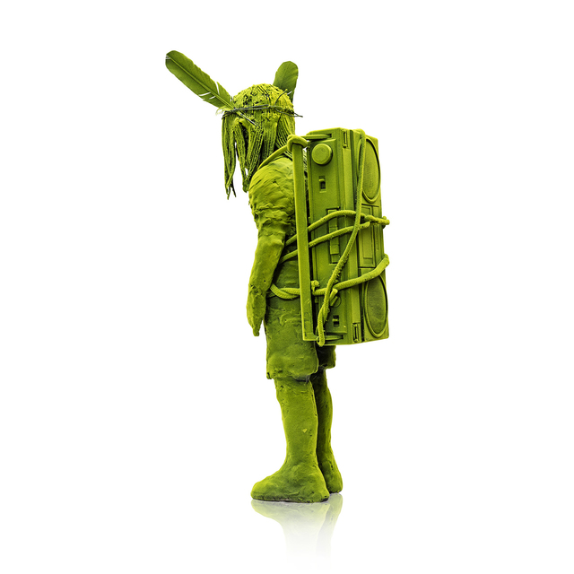 , 'Nomadic Mossboy with Ghetto Blaster,' 2016, Jason Jacques Gallery