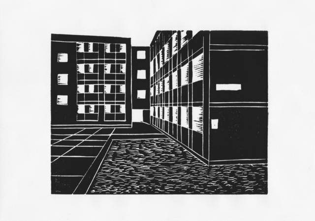 Warren Garland, 'De Beauvoir 2', 2018, Print, Linocut, IFAC Arts